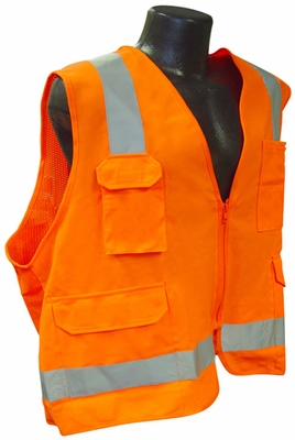 Radians SV7 Surveyor Class 2 Orange Reflective Safety Vest
