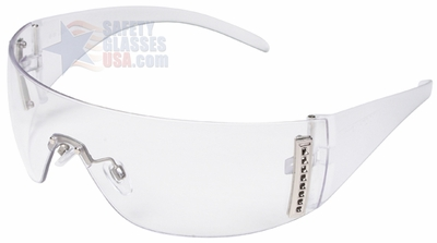 Uvex W100 Series with Clear Frosted Frame and Clear Hardcoat Lens