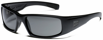 Smith Elite Hideout Tactical Ballistic Sunglasses with Black Frame and Polarized Gray Lens