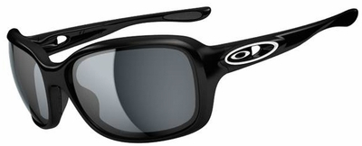 Oakley Urgency Sunglasses with Polished Black Frame and Grey Lenses