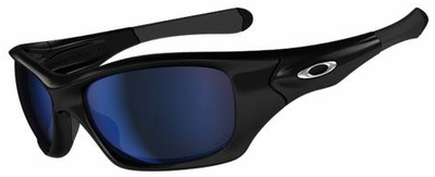 Oakley Pit Bull Fishing Specific Sunglasses with Polished Black Frame and Deep Blue Polarized Lens