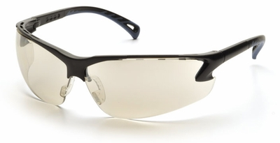 Pyramex Venture 3 Safety Glasses with Black Frame and Indoor-Outdoor Lens