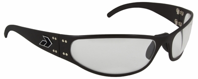Gatorz Radiator Sunglasses with Black Aluminum Frame and Clear Lens