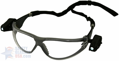 3M Light Vision LED Safety Glasses with Clear Anti-Fog Lens