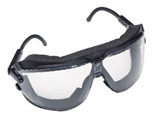 3M Dust GoggleGear with Temple Arms and Clear Anti-Fog Lens