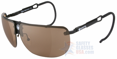 Beretta NXT Aviator Shooting Glasses Kit with Black Metal Frame and Yellow, Red and Brown NXT Lenses