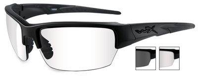 Wiley-X WX Saint Safety Glasses with Matte Black Frame and Clear and Gray Lenses