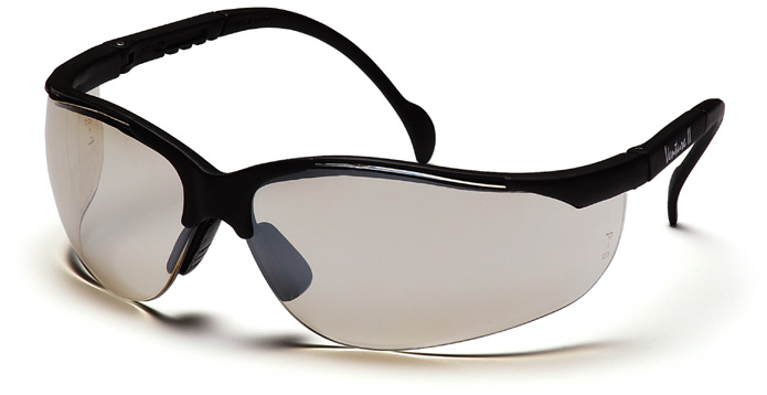 Pyramex Venture 2 Safety Glasses with Black Frame and Indoor-Outdoor Lens