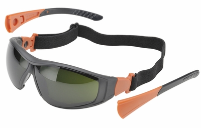 Elvex Go-Specs II with Black Frame, Foam Seal and IR5 Anti-Fog Lens