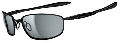 Oakley Blender Sunglasses with Polished Black Frame and Grey Polarized Lenses
