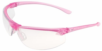Encon Veratti LS7 Safety Glasses with Pink Frame and Clear Lens
