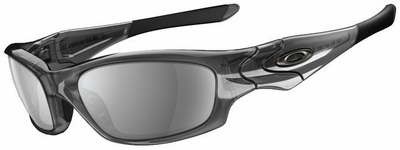 Oakley Straight Jacket Sunglasses with Grey Smoke Frame and Black Iridium Lens
