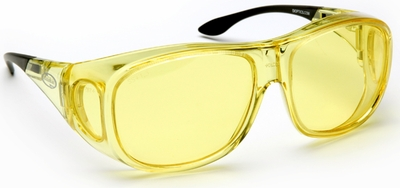 Guardian Pro Over-The-Glass Safety Glasses with Large Yellow Anti-Fog Lens