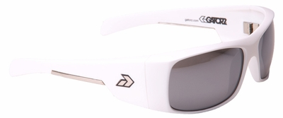Gatorz Malkin Sunglasses with Matte White Frame and Chrome Lens