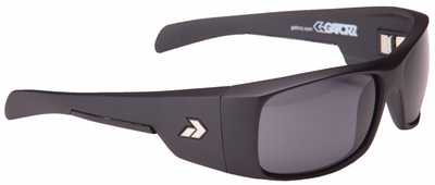Gatorz Malkin Sunglasses with Matte Black Frame and Polarized Grey Lens
