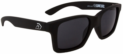 Gatorz I Am Sunglasses with Matte Black Frame and Grey Lens