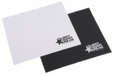 Microfiber Cleaning Cloth with Safety Glasses USA Logo