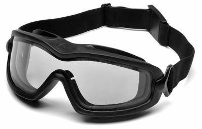 Pyramex V2-XP Goggles with Black Frame and Dual-Pane Clear Anti-Fog Lens