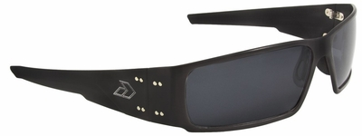 Gatorz Octane Sunglasses with Black Aluminum Frame and Gray Lens