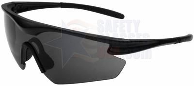 ERB Point Safety Glasses with Black Frame and Smoke Lens