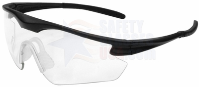 ERB Point Safety Glasses with Black Frame and Clear Lens