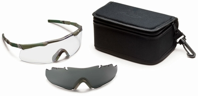 Smith Elite Aegis ARC Compact Tactical Eyeshield Kit with MultiCam Frame and Clear and Gray Lenses