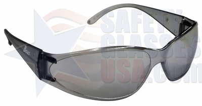 ERB Boas Safety Glasses with Smoke Frame and Silver Mirror Lens