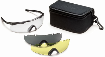 Smith Elite Aegis ARC Compact Tactical Eyeshield Deluxe Kit with Black Frame and Clear, Gray and Yellow Lenses