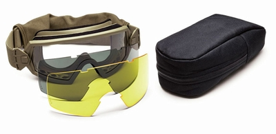 Smith Elite Outside The Wire Military Goggle Deluxe Kit with Tan-499 Frame and Clear, Gray, and Yellow Lenses