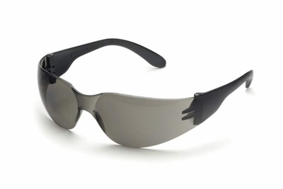 Elvex TTS Safety Glasses with Black Temples and Gray Lens