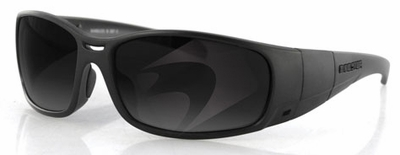 Bobster Ambush Convertible Safety Sunglasses with Matte Black Frame and Smoke Anti-Fog Lens