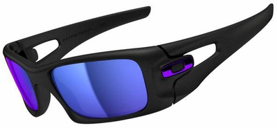 Oakley Crankcase Sunglasses with Matte Black Frame and Violet Iridium Lenses