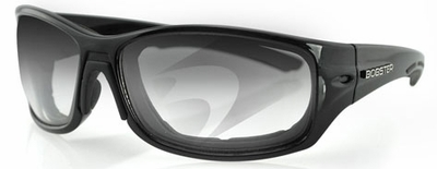 Bobster Rukus Sunglasses with Black Frame and Anti-Fog Photochromic Lens