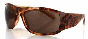 Bobster Vixen Highway Honey Sunglasses with Tortoise Frame Laser Paisley and Smoke Lens