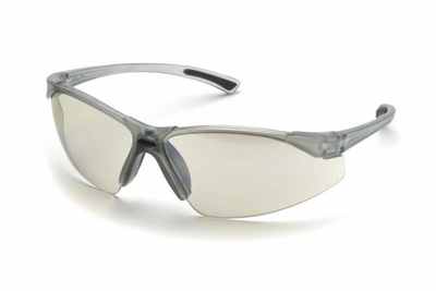 Elvex Elite Safety Glasses with Transparent Gray Frame and Indoor-Outdoor Lens