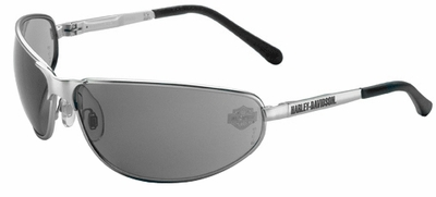Harley Davidson HD502 Safety Glasses with Aluminum Frame and Gray Lens