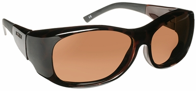 Haven Sunset OTG Sunglasses with Large Tortoise Frame and Amber Polarized Lens