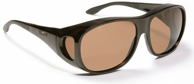 Haven Summerwood OTG Sunglasses with Large Tortoise Frame and Amber Polarized Lens