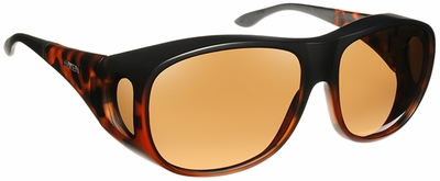 Haven Summerwood OTG Sunglasses with Large Matte Tortoise Frame and Amber Polarized Lens