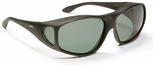 Haven Rainier OTG Sunglasses with Large Soft Matte Black Frame and Gray Polarized Lens