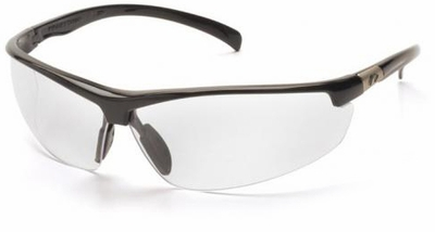 Pyramex Forum Safety Glasses with Black Frame and Clear Lens