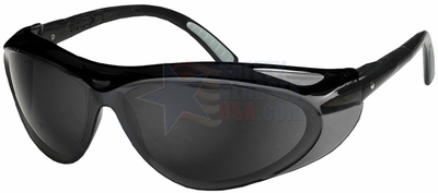 Jackson Envision Safety Glasses with Black Frame and Smoke Lens