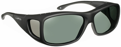 Haven Denali OTG Sunglasses with M/L Soft Matte Black Frame and Gray Polarized Lens