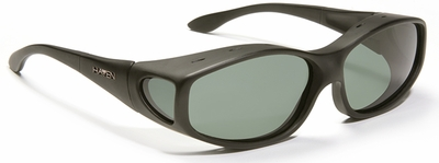 Haven Biscayne OTG Sunglasses with Medium Soft Matte Black Frame and Gray Polarized Lens