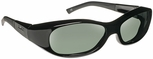 Haven Avalon OTG Sunglasses with Small Gloss Black Frame and Gray Polarized Lens