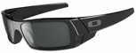 Oakley Gascan Sunglasses with Polished Black Frame and Grey Lens