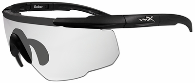 Wiley-X Saber Advanced Ballistic Safety Glasses with Matte Black Frame and Clear Lenses