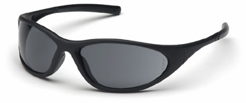 Pyramex Zone 2 Safety Glasses with Black Frame and Gray Lens