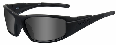 Wiley X WX Rush Black Ops Safety Sunglasses with Matte Black Frame and Smoke Grey Lens