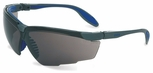 Uvex Genesis X2 Safety Glasses with Silver/Navy Frame and Dark Gray XTR Lens